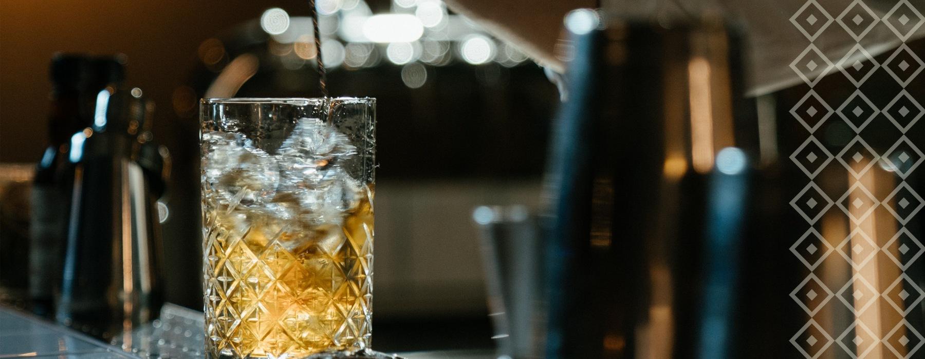 cocktail stirring at local bar